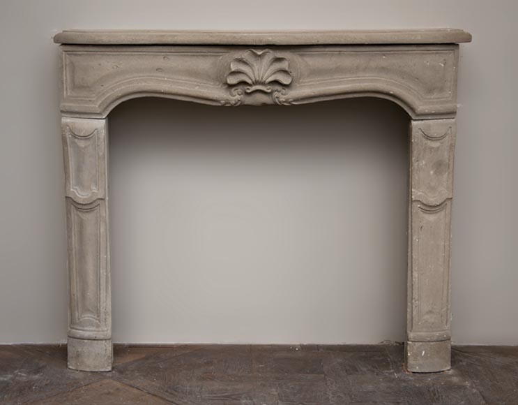 Antique Louis XV style fireplace made out of stone - Reference 2583