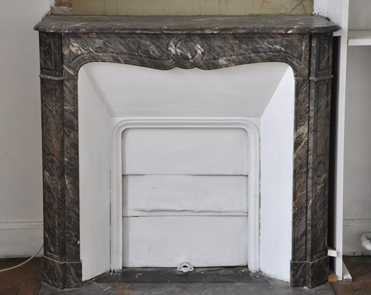 Small antique Louis XV style Pompadour fireplace made out of Bois Jourdan marble - Reference 2669