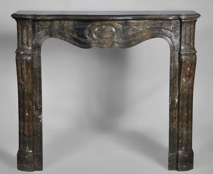 Antique Louis XV style fireplace, Pompadour model, made out of Bois Jourdan marble - Reference 2697