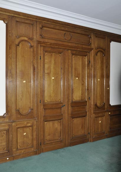 Antique oak wood paneled room from the 19th century - Reference 2721