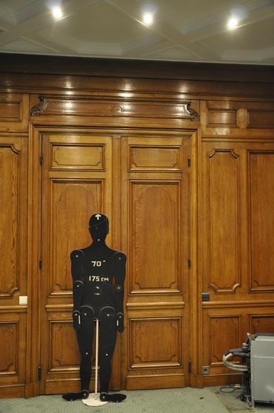 Oak Paneled Room: Antique Oak Wood Paneled Room From The 19th Century