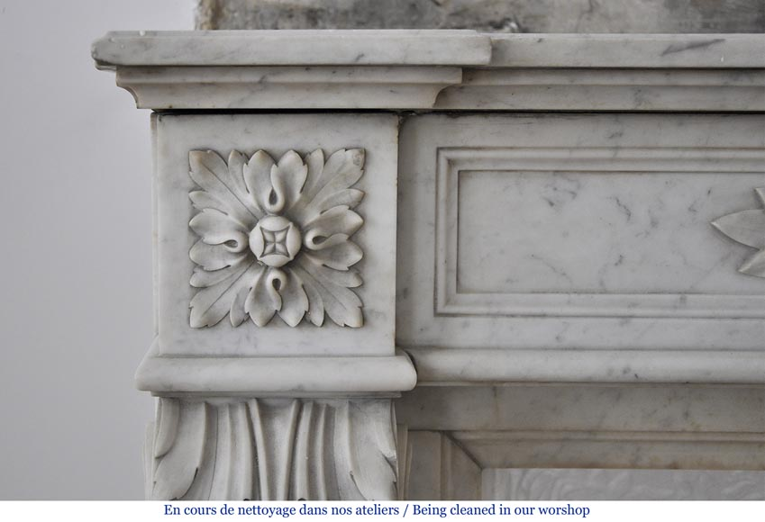 Beautiful antique louis xvi style fireplace with laurel for Acanthus decoration