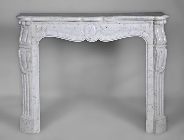 Antique Louis XV style fireplace made out of Carrara marble - Reference 2726