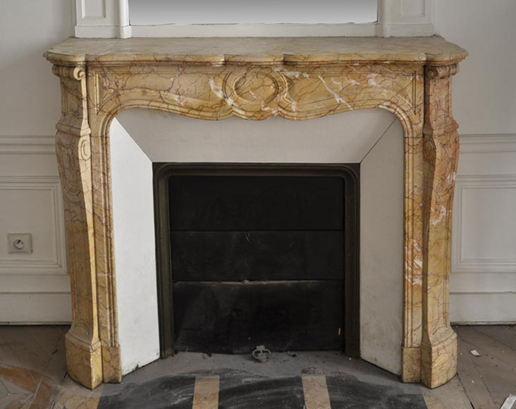 Antique Pompadour style fireplace made out of Breccia Nuvolata - Reference 2729