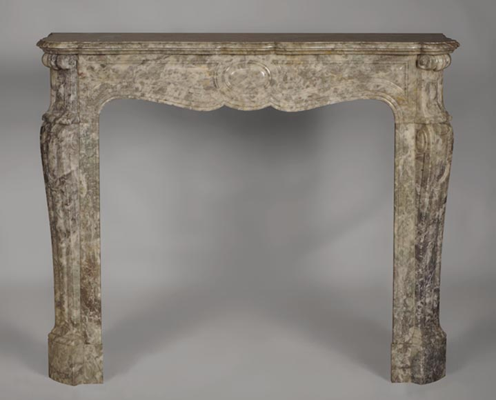 Antique Louis XV style fireplace, Pompadour model, made out of marble - Reference 2731