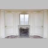 Beautiful Louis XV style paneled room with 18th century stone fireplace