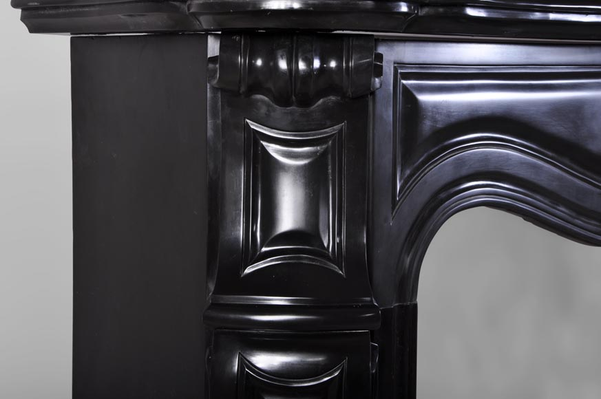 Small Antique Quot Pompadour Quot Fireplace Mantel In Black From