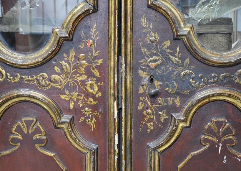 Beautiful antique double door with chinese style decor-3