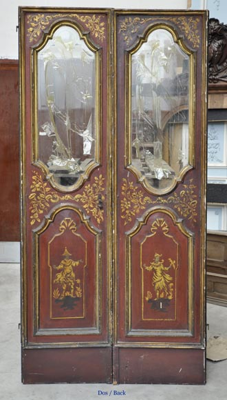 Beautiful antique double door with chinese style decor-6