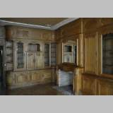 Louis XV style paneled room with its fireplace made out of carved oak