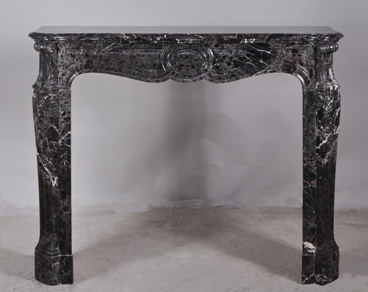 Antique Pompadour fireplace, Louis XV style, Lepanto marble - Reference 2902