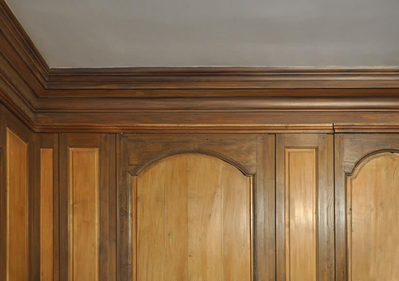 18th century oak and fir wood paneled room-10