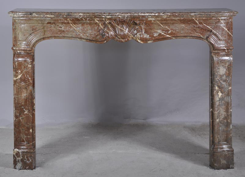 Antique Louis XV fireplace in Royal Red - Reference 2936