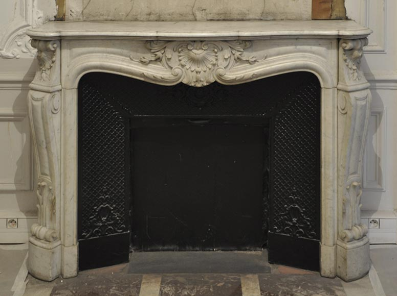 19th century Louis XV style fireplace in Carrara Marble - Reference 2963