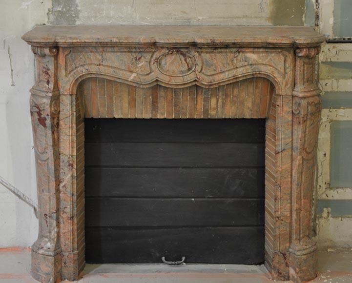 Antique Pompadour fireplace in Enjugerais marble - Reference 2970
