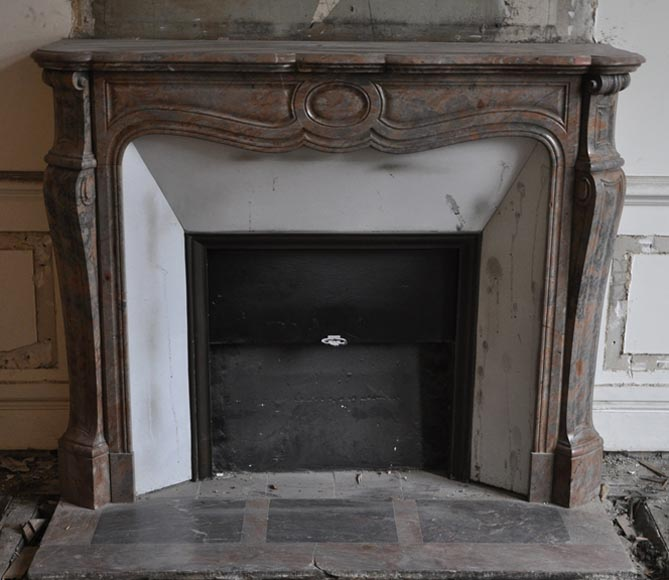 Antique Pompadour Louis XV fireplace in pink Enjugerais marble - Reference 2992
