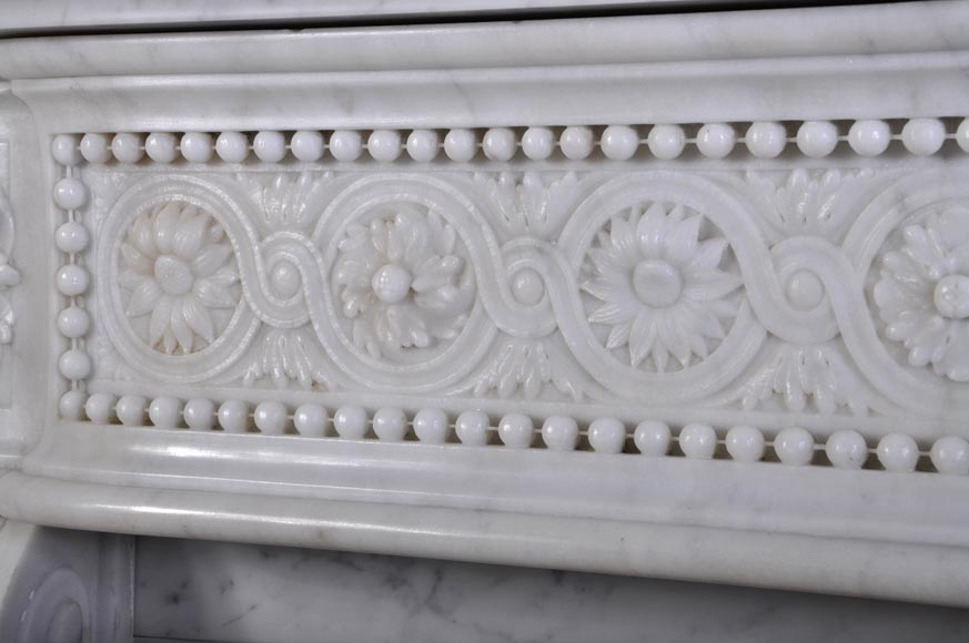 Very Beautiful Antique Louis Xvi Style Fireplace With