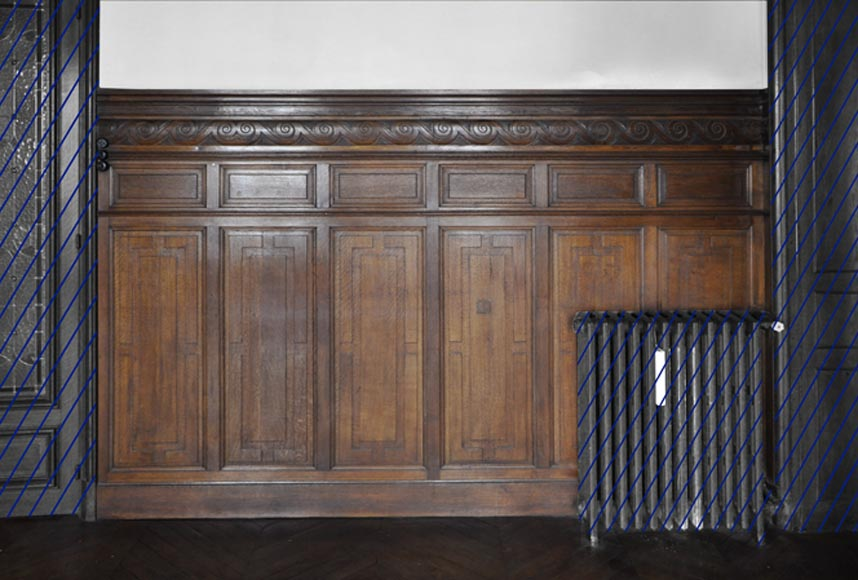 Set Of Oak Carved Panels With Vitruvian Scroll Paneled Rooms