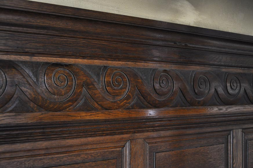 Set of oak carved panels with vitruvian scroll-1