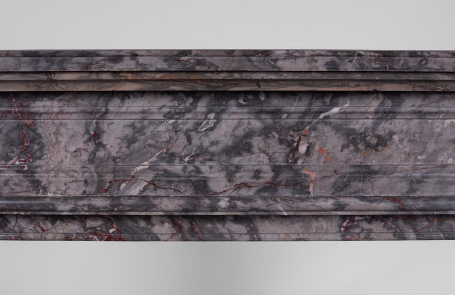 Antique Louis XVI style fireplace with flutings in Bois Jourdan marble-1