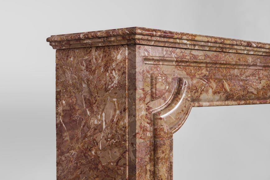 Antique Louis XIV style fireplace in Brèche marble-3