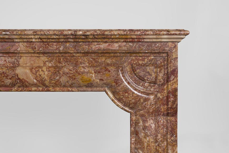 Antique Louis XIV style fireplace in Brèche marble-6