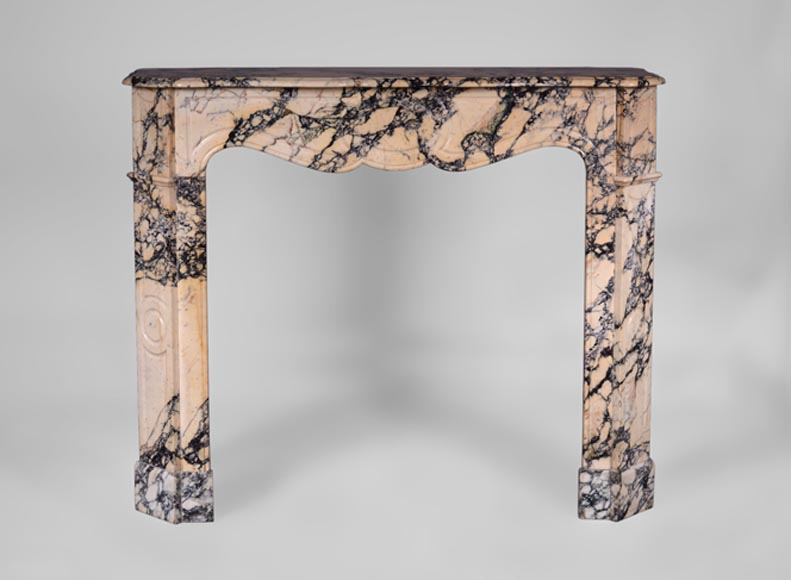 Antique Pompadour mantel, flat model, in Paonazzo marble - Reference 3229