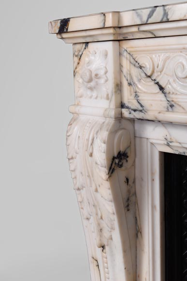Beautiful antique Louis XVI style fireplace in Paonazzo ...