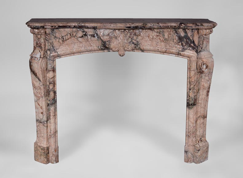 Antique Regence style fireplace in Breccia marble, 19th c.  - Reference 3265