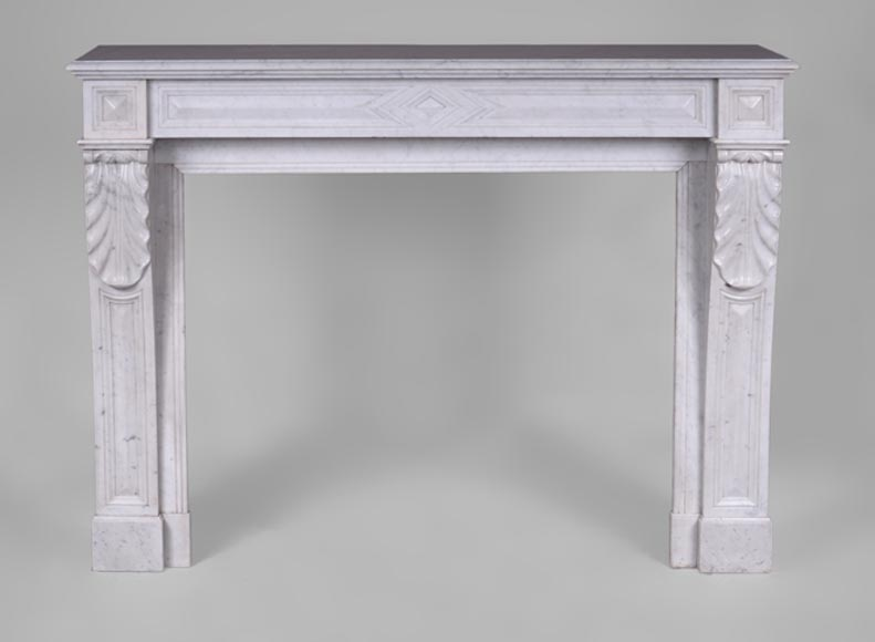 Antique Napoleon III fireplace in Carrara marble - Reference 3297