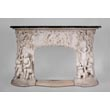 The Games of Childhood, extraordinary antique Statuary marble fireplace carved in high relief with putti