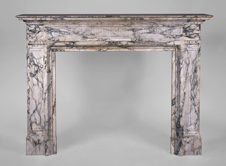 Antique Napoleon III style fireplace in Serravezza marble - Reference 3305