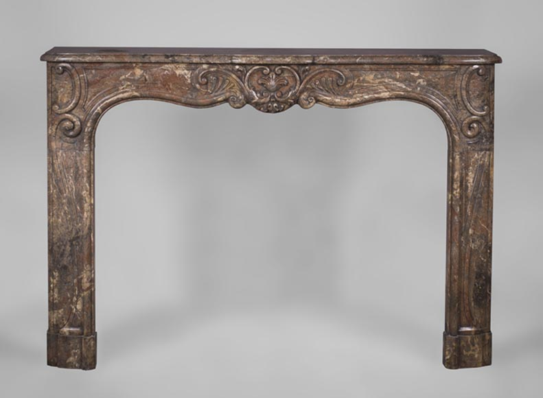 beautiful antique 18thcentury louis xv fireplace mantel in rouge de rance marble - Antique Fireplace Mantels