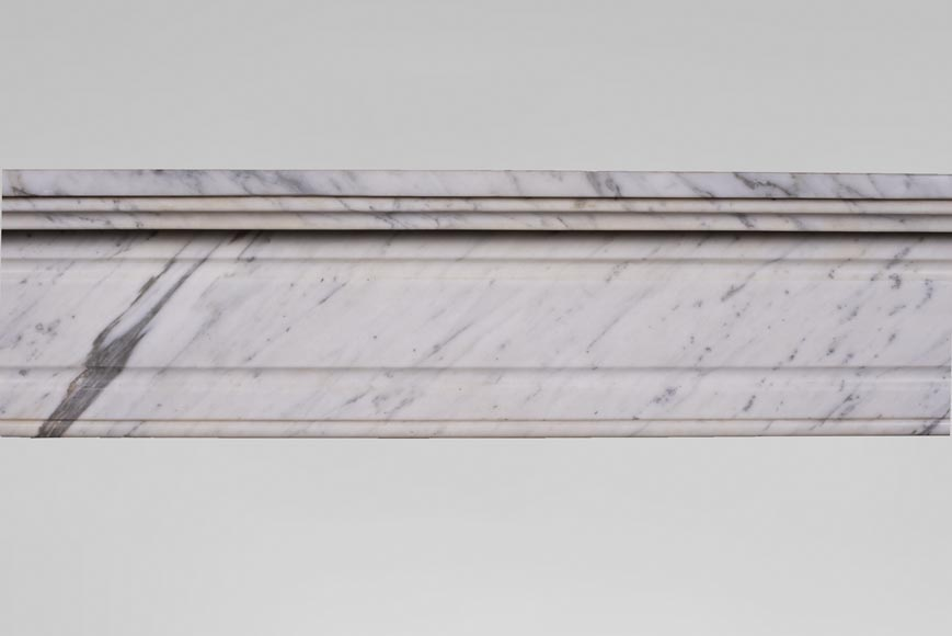 An antique Louis XVI style fireplace, made out of Arabescato marble-1
