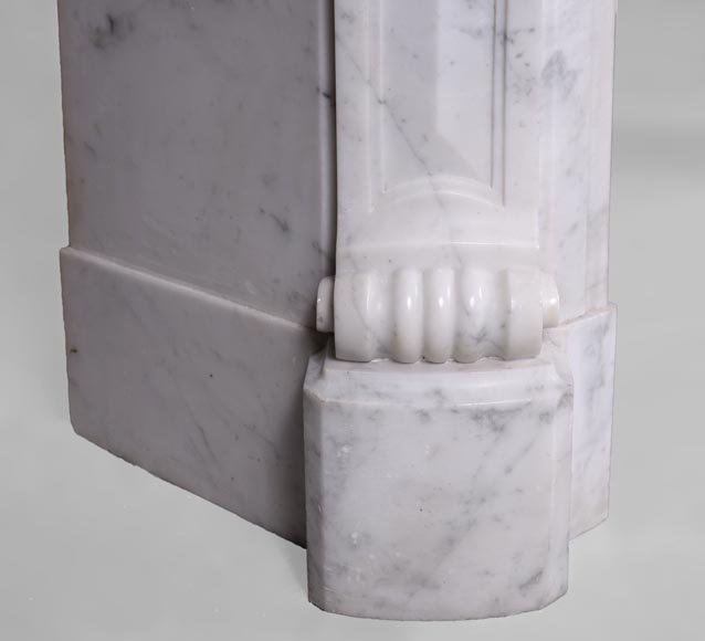 Antique Regence style fireplace in Carrara marble -4