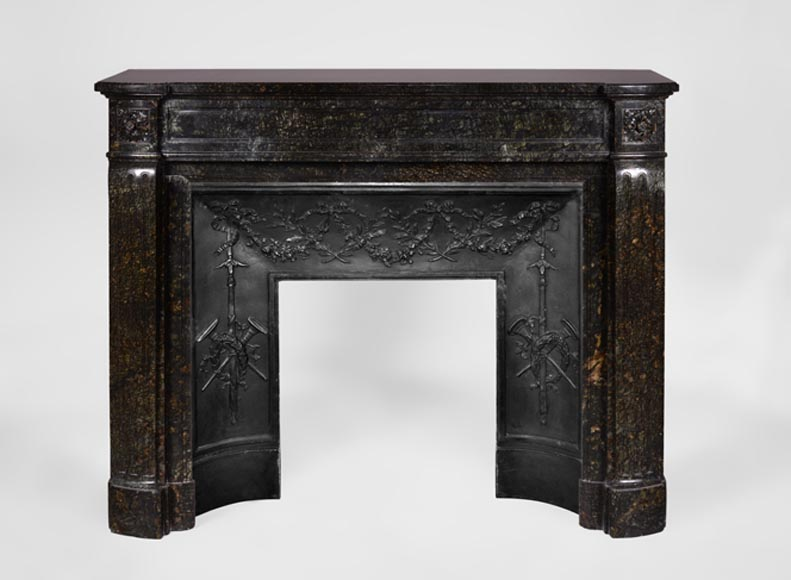 "Antique Louis XVI style fireplace in ""Serpentinite Chenaillet"" marble - Reference 3447"