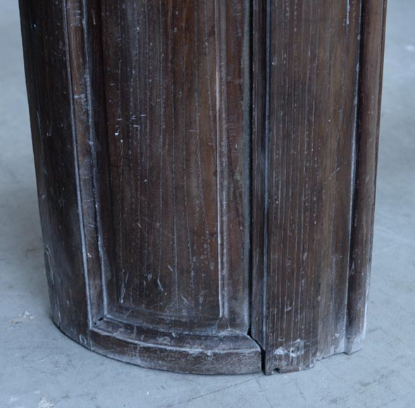 Large antique oak wood fireplace, Regence style, 1st half of the 19th c.-4