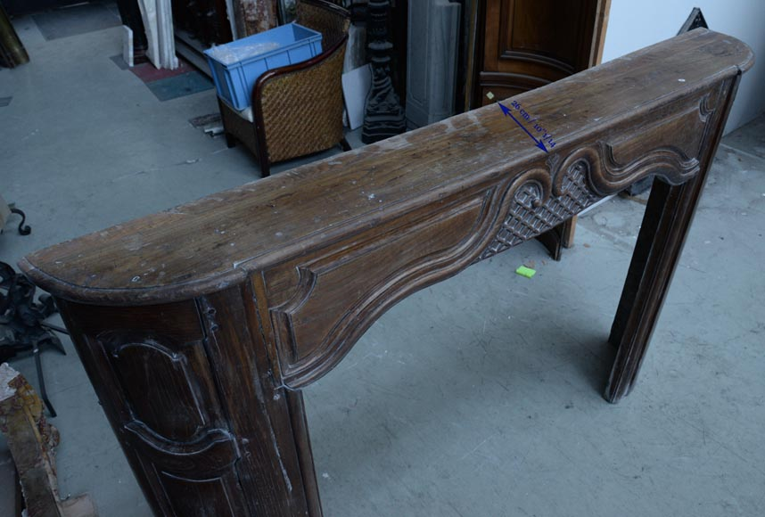 Large antique oak wood fireplace, Regence style, 1st half of the 19th c.-8