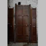 Antique large door in oak with paneled decoration, circa 1900
