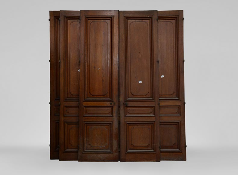 Antique Napoleon III style set of four double doors in wood  - Reference 3464
