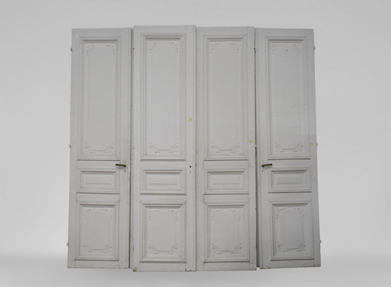 Set of three antique double doors, Regence style, 19th century - Reference 3467
