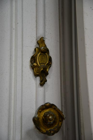 Set of five antique Regence style double doors with their beautiful bronze locks, 19th century-7