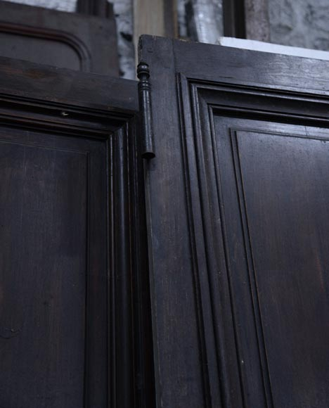 Three antique Napoleon III style simple doors in wood with a paneled decor-4