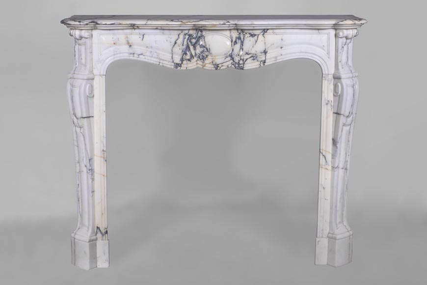 An antique Louis XV style fireplace, made out of Paonazzo marble-0