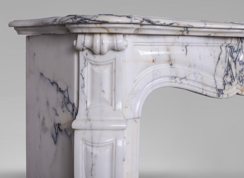 An antique Louis XV style fireplace, made out of Paonazzo marble-2