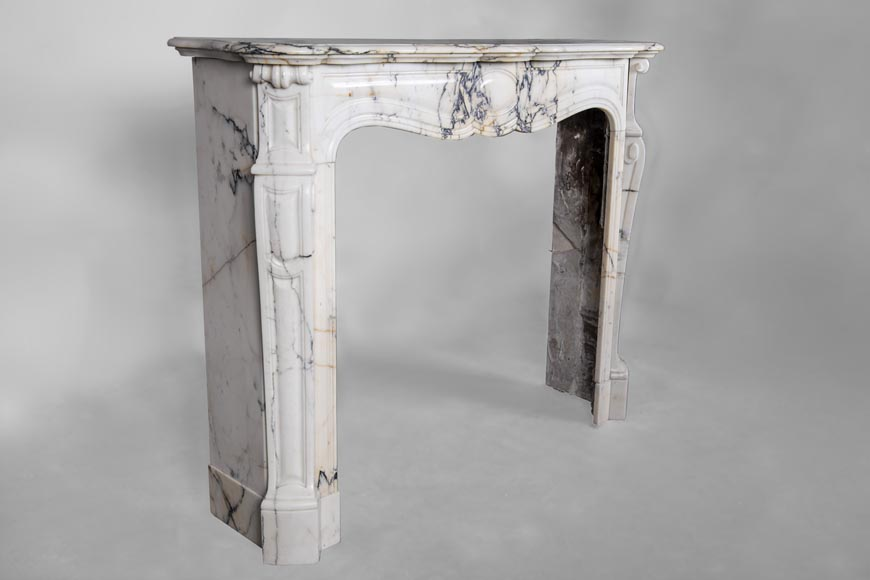 An antique Louis XV style fireplace, made out of Paonazzo marble-3
