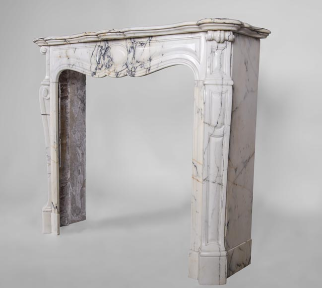 An antique Louis XV style fireplace, made out of Paonazzo marble-5
