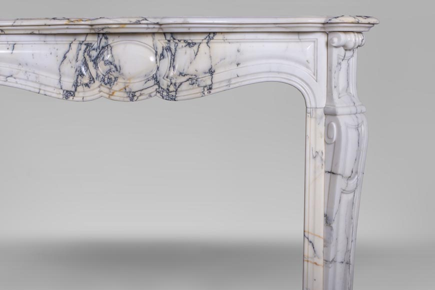 An antique Louis XV style fireplace, made out of Paonazzo marble-6