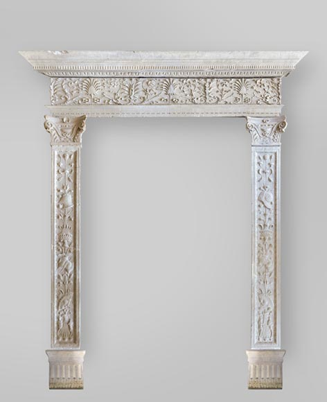 Important antique doorway in marble stone, Renaissance period  - Reference 3517