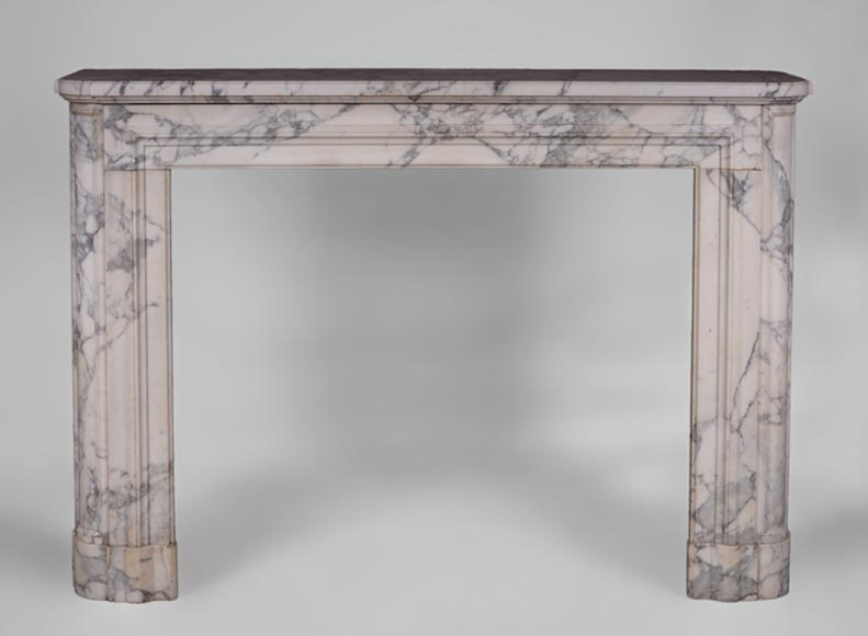 Antique Art Deco fireplace in Arabescato marble  - Reference 3521